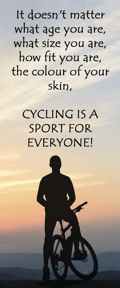 .THIS IS WHY CYCLING IS A SPORT FOR EVERYONE: http://thecyclingbug.co.uk/community/bug-blogs/cycling-stu/b/weblog/archive/2014/03/27/cycling-a-sport-for-everyone.aspx?utm_source=Pinterest&utm_medium=Pinterest%20Post&utm_campaign=ad Do you agree? #cycling #bike #bicycle