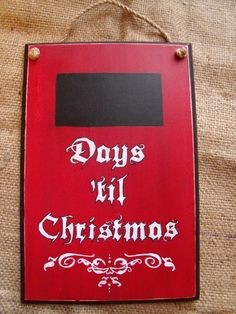 This is a Hand Painted Christmas Chalkboard Countdown! The letters are hand painted, and may not be perfect. Chalkboard Painted Square to markdown the days until Christmas! Features a twine hanging rope. Sprayed with a matte finish to insure it lasts for years to come! [chalkboard part has not been sprayed] Sign Measures: 10 long x 6 3/4 wide x 3/4 thick Will Ship VIA USPS w/ Tracking. Please convo with any questions. Happy Holidays