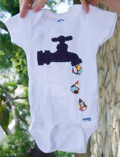 Idea for applique onsie for a boy