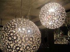 Pretty. Floral crystal ball chandelier