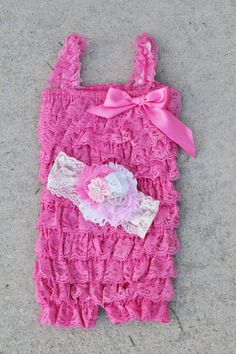 dark pink Princess romoper headband setbaby by https://sallyannasunshine.com/