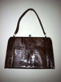 8566e8c8f1f2 Frenchy of california brown embossed framed snap lock purse 60 s  70 s. Shoulder  BagsJanuaryCrochet Shoulder BagsShoulder BagCross Body HandbagsMessenger ...