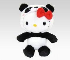 "Hello Kitty 8"" Plush: Panda  The LAST DAY'S pinspiration: Pin something SUPERCUTE!   #SephoraHelloKitty"