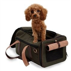 Duffle Carrier Olive & Chocolate Brown