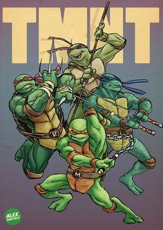 Teenage Mutant Ninja Turtles by alexsantalo on DeviantArt Ninja Turtles Art, Teenage Mutant Ninja Turtles, Lion Turtle, Turtles Forever, Forever Movie, Cartoon Turtle, 90s Cartoons, Tmnt, Cartoon Characters
