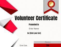 ngo volunteer certificate format