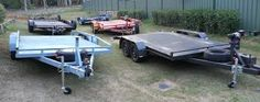 Box trailers, mainly made from steel & fabricated sheets of iron.