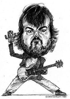 Jack Black Dream Concert, Main Squeeze, Jack Black, Rock Bands, Comedians, Masks, Game, Drawings, Metal