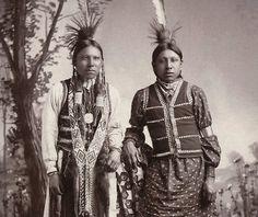 Bear Man & Rambler. Native Americans, Oklahoma Territory cabinet card. Photo: ca. 1890- 1907. Photographed in El Reno Oklahoma Territory.