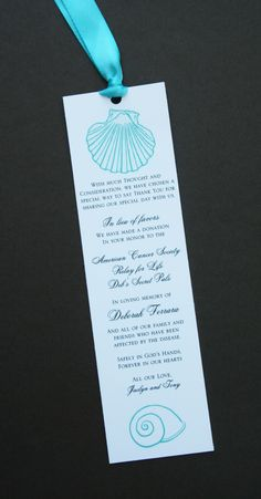 The 18 best bookmark wedding favors images on pinterest wedding beach wedding donation bookmarks malvernweather Images