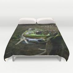 Frog Floating Duvet Cover by Photography By MsJudi - $99.00