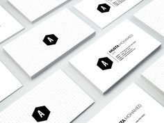 Clean Minimal Business Card - 01 by MustaART on @creativemarket