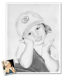 Hand Drawn Pencil Sketch from Photos - A little girl cheering on her favorite team.it doesn't get much more adorable than this! Beautiful Pencil Sketches, Cool Sketches, Pencil Sketch Portrait, Pencil Drawings, Sketch Paper, Portraits From Photos, Hand Drawn, Little Girls, How To Draw Hands