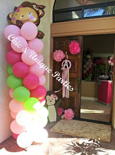 Baby Shower De Monkey Love Girl   Buscar Con Google | Shower Monkey Girl |  Pinterest | Girls, Centerpieces And Showers