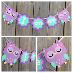 Items similar to I am one owl banner, owl high chair banner, owl cake smash banner, owl mini banner, purple owl banner on Etsy Owl Themed Parties, Owl Parties, Owl Birthday Parties, 1st Birthday Girls, Birthday Ideas, Birthday Banners, Birthday Cake, Owl 1st Birthdays, Cake Banner
