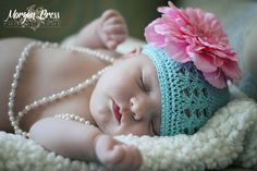 Infant Photography... absolutely love the pearls . .