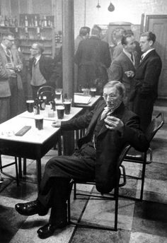 Gentleman enjoying a pint at an old-school London pub in Vintage London, Old London, East London, London City, London History, British History, British Pub, Old Pictures, Old Photos