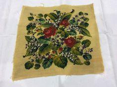 Античная Woolwork и бисером цветочные панели   ибее
