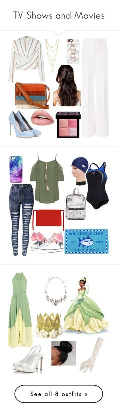 """""""TV Shows and Movies"""" by jaycrew-a ❤ liked on Polyvore featuring Diane Von Furstenberg, Miu Miu, Casetify, T-shirt & Jeans, Givenchy, Speedo, WearAll, Converse, Falcon Enamelware and Saloni"""