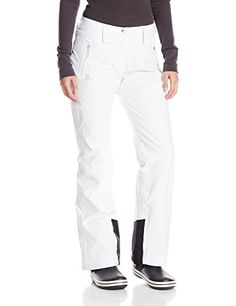 Salomon Women's Iceglory Pant, White, Medium/Regular *** Click image to review more details.