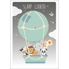 Poster luchtballon Studio Circus 50x70cm