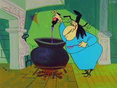 Witch Hazel brewing magic potion in her cauldron – Looney Tunes ~ click-thru for +1 | via GW