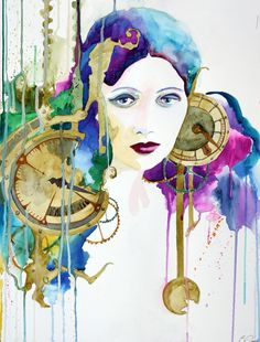 Like the steampunk watercolor look