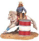 Barrel Racing Figurine Barrel Racer Statue Model of Barrel Racer Little Cowgirl, Cool Pins, Barrel Racing, Western Decor, Collectible Figurines, Rodeo, Westerns, Horses, Statue