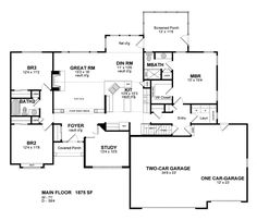 Colonial HousePlan Has Square Feet Of Living Space - Craftsman house plans with 3 car garage