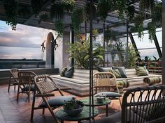 The latest stylish new addition to the Cape Town hotel scene, Gorgeous George, features South African design and art at its most beautiful. Outdoor Spaces, Indoor Outdoor, Outdoor Living, Outdoor Decor, Outdoor Pool, Rooftop Restaurant, Rooftop Bar, Rooftop Lounge, Soho House