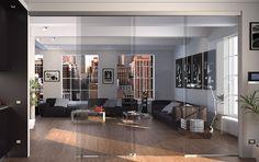 La separación de interiores definitiva sin perfilería vertical y sin guía inferior.  Seeglass Lux es el sistema perfecto para crear nuevos espacios interiores, cubriendo grandes dimensiones mediante vidrio y sin prácticamente uso de aluminio. En este sistema no se utiliza ningún tipo de guía inferior, consiguiendo una estética excepcional.  El vidrio nos da un gran paso de luz, siendo este el objetivo principal cuando queremos separar estancias y a su vez cuidar los detalles.