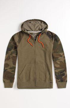 5ab7bd4672c0  OnTheByas Camo Zip Hoodie Moletons, Armário De Homem, Pacsun, Camisola Com  Capuz