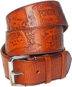 Gürtel.Herren. Jeans Ledergürtel Motiv  Poker  Tolles Geschenk!Gürtel mit Motiv.