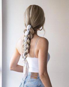 Medium Long Hair, Long Hair Cuts, Long Hair Styles, Hairdo For Long Hair, Hair Dos, Braids Long Hair, Braid Hairstyles For Long Hair, Long Hair Ponytail, Long Ponytails