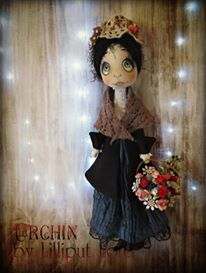 Flower Seller Urchin Art Doll by Vicki @ Lilliput Loft