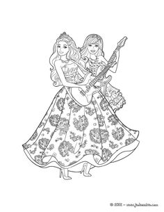 Enjoy Coloring This Popstars Barbie Printable With Our Machine Lovely