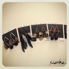 •Earrings• #polaroid #klaidra #bohemian #earrings #ethnic #gypsy #boho #handmade #fw15 #greekdesigners #jewelry #feathers #pompom #klaidrajewelry