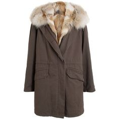 Yves Salomon Coyote Fur Lined Parka