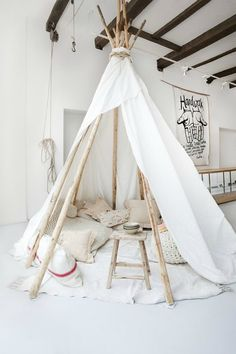 """roughin' it in a teepee"