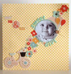 Simple but very sweet scrapbook layout using Echo Park, available at Creative Hobby Supplies - http://www.creativehobbysupplies.co.uk/ourshop/cat_579632-12x12-Collection-Kits.html