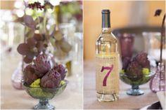 Merlot color scheme for a vineyard wedding