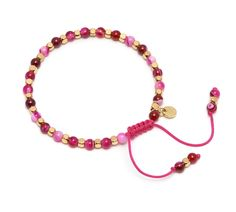 Lola Rose Portobello Bracelet with Pink Persian Agate | Venusi Jewels