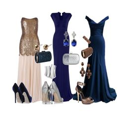 A fashion look from August 2012 featuring Rachel Gilbert gowns, Jimmy Choo pumps and Sergio Rossi pumps. Browse and shop related looks.