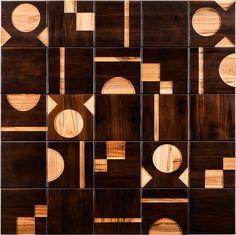 Дизайнер поверхностей из Бразилии Рената Рубим совместно с фабрикой Oca Brasil создала серию настенной плитки из древесины Brasiliana