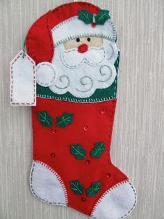 Santa Buddy Completed Handmade Felt por GrandmasStitchings en Etsy
