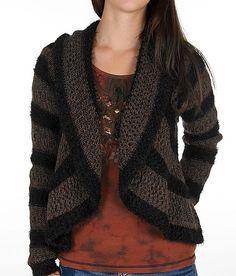 BKE Boutique Marled Stripe Cardigan Sweater-Buckle