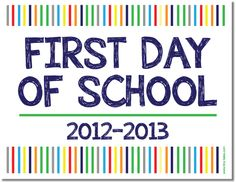 FREE First Day of School Photo Banner {printable}