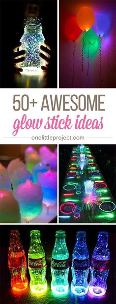 These glow stick ideas are SO MUCH FUN! There are so many amazing things you can do in the dark! These glow stick ideas are SO MUCH FUN! Whether you choose one or two, or throw a whole party, turn off the lights, and be prepared for some evening fun! 13th Birthday Parties, Slumber Parties, Diy Birthday, Cool Birthday Ideas, Dance Party Birthday, Teen Parties, Dance Party For Kids, Crafts For Birthday Parties, Teen Birthday Games
