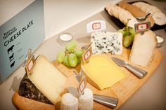 a well-rounded cheese plate: something bleu, something mold ripened, something hard, something fresh, and something aged.