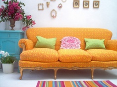 Bright yellow couches, I cannot go past them. I think I need a whole board just for all the yellow stuff.